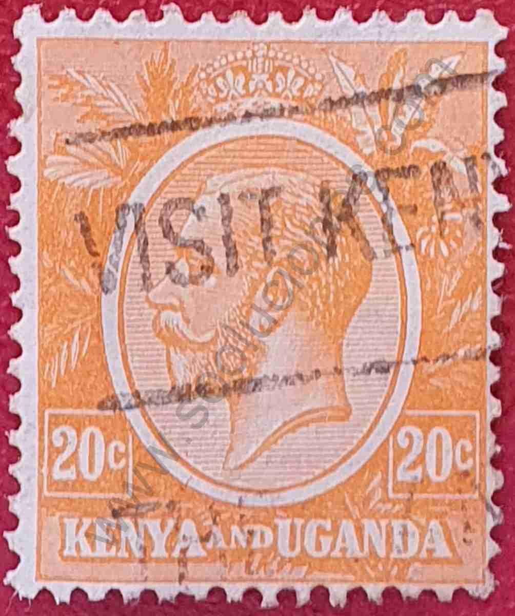 Sello Rey Jorge V - Kenia & Uganda 1922