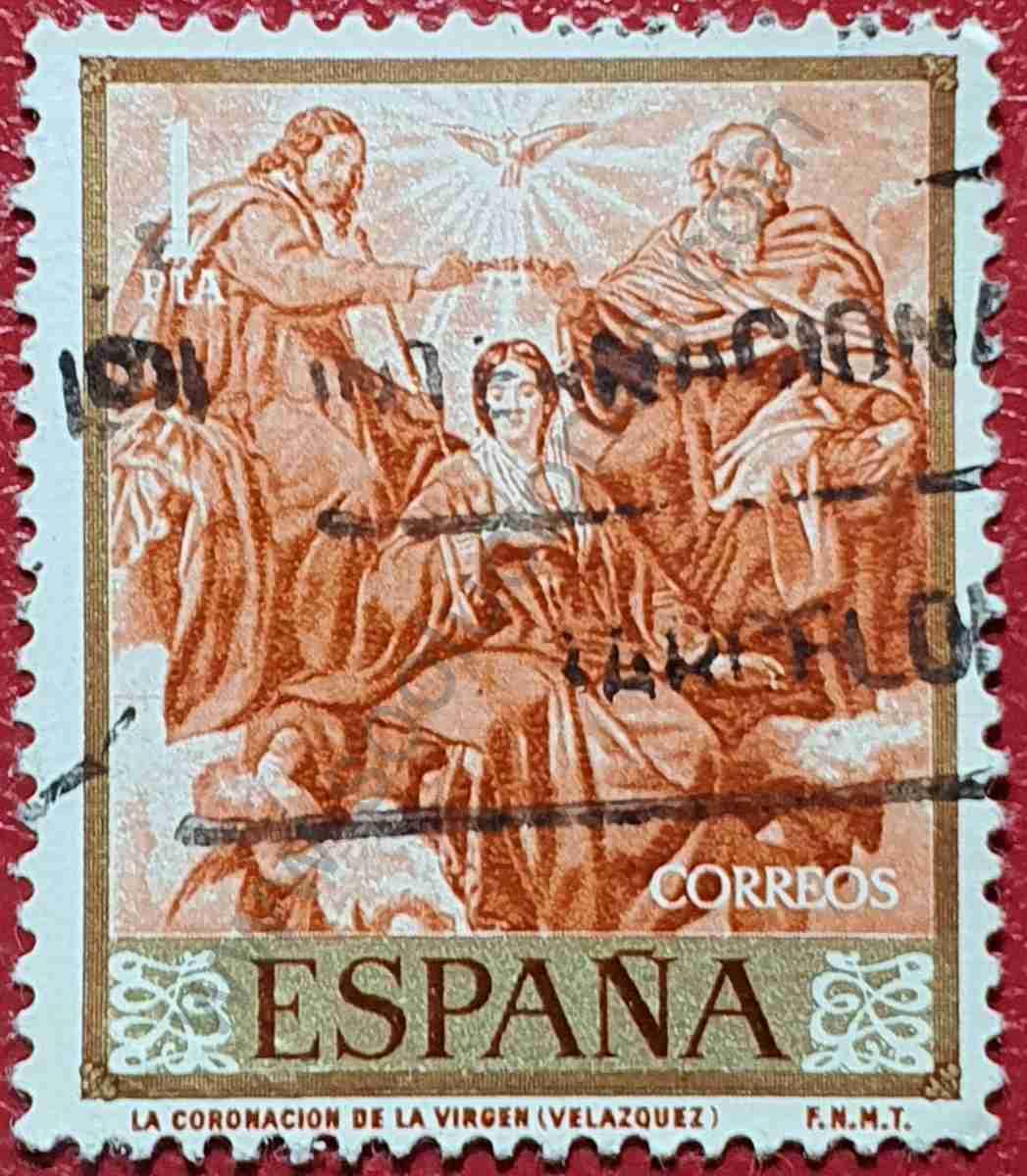 "Sello ""Coronación de la Virgen"" - España 1959"
