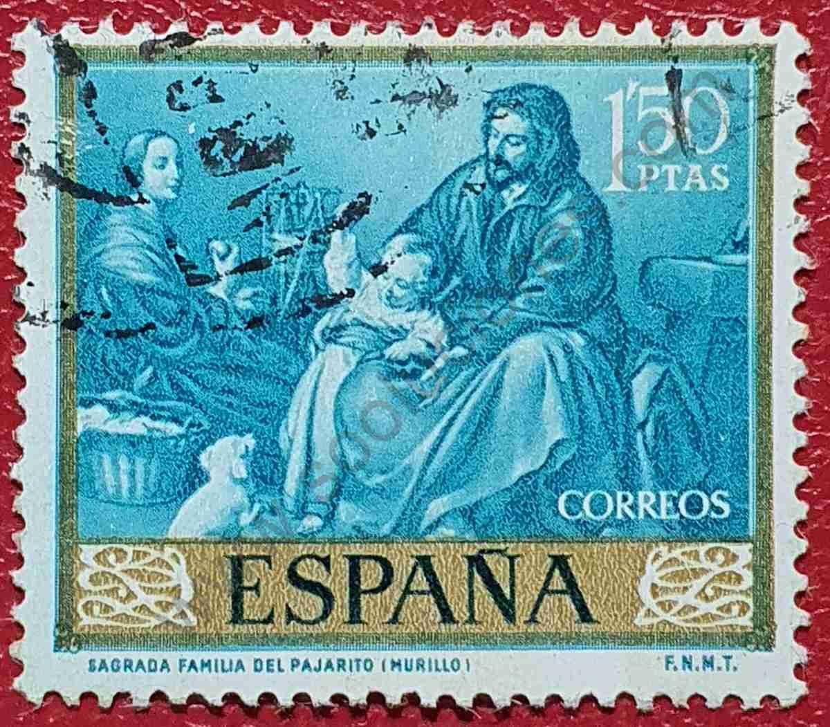 Sagrada familia del pajarito - Sello España 1960