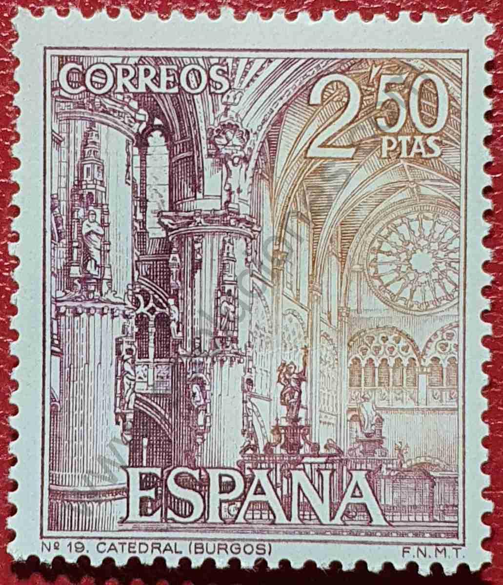 Sello Catedral de Burgos - 1965 España