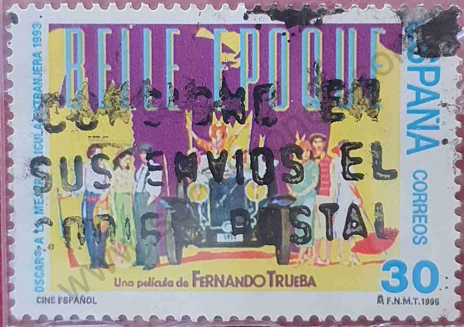 """Sello poster film """"Belle Époque"""" - España 1995"""