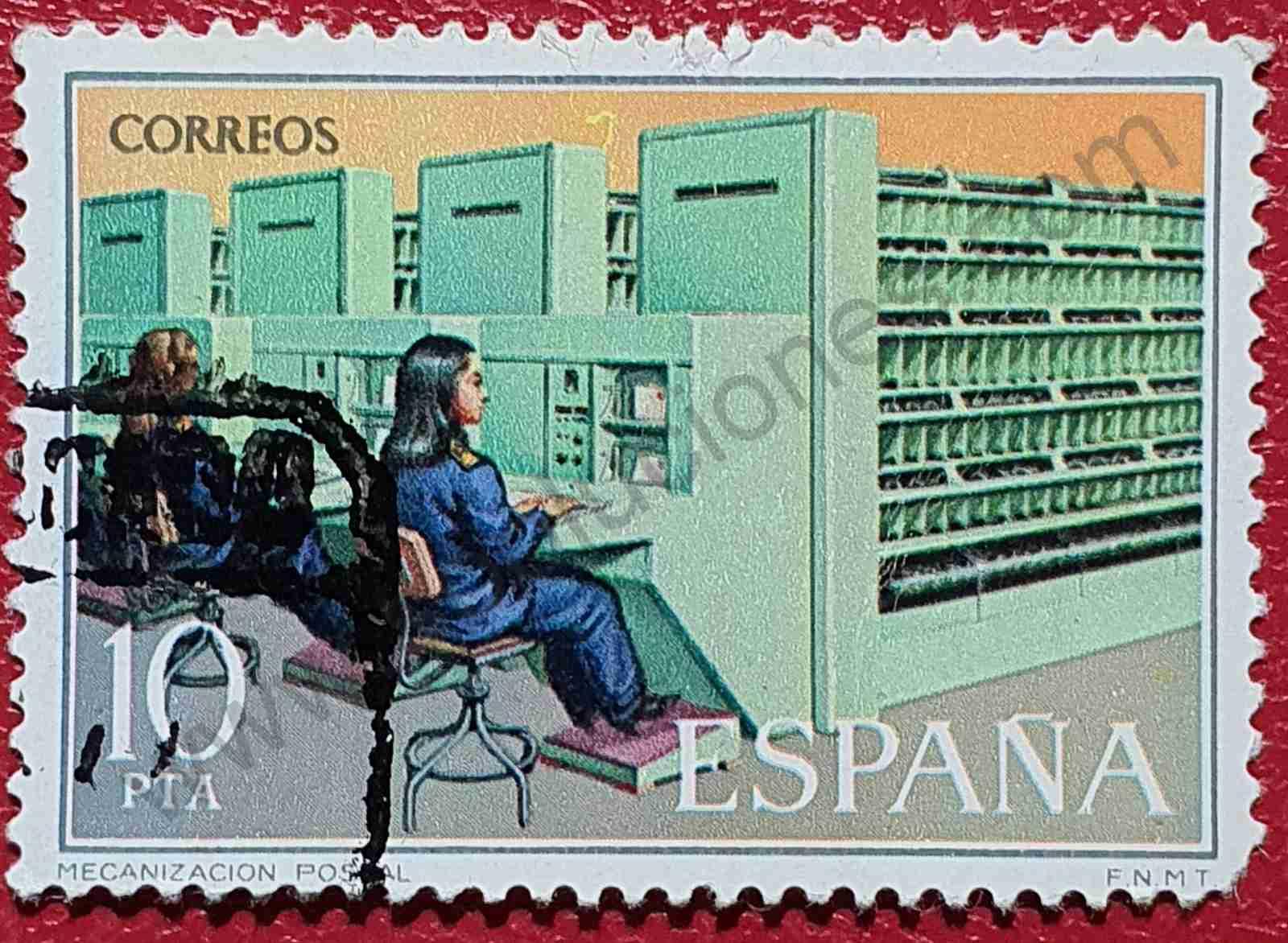 Sello Mecanizado postal - España 1976