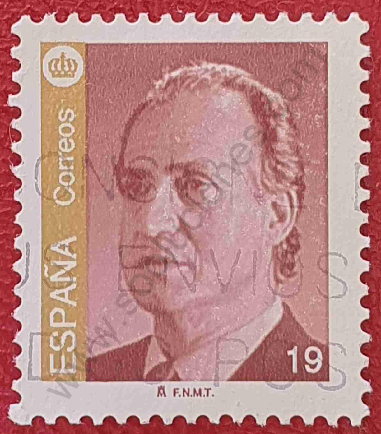 Sello 19p Rey Juan Carlos - España 1995