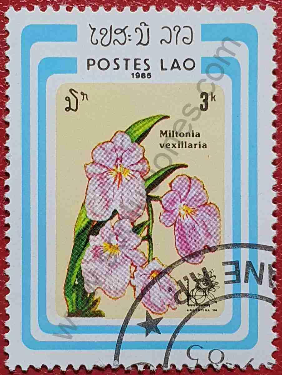 Sello Orquídea - Laos 1985