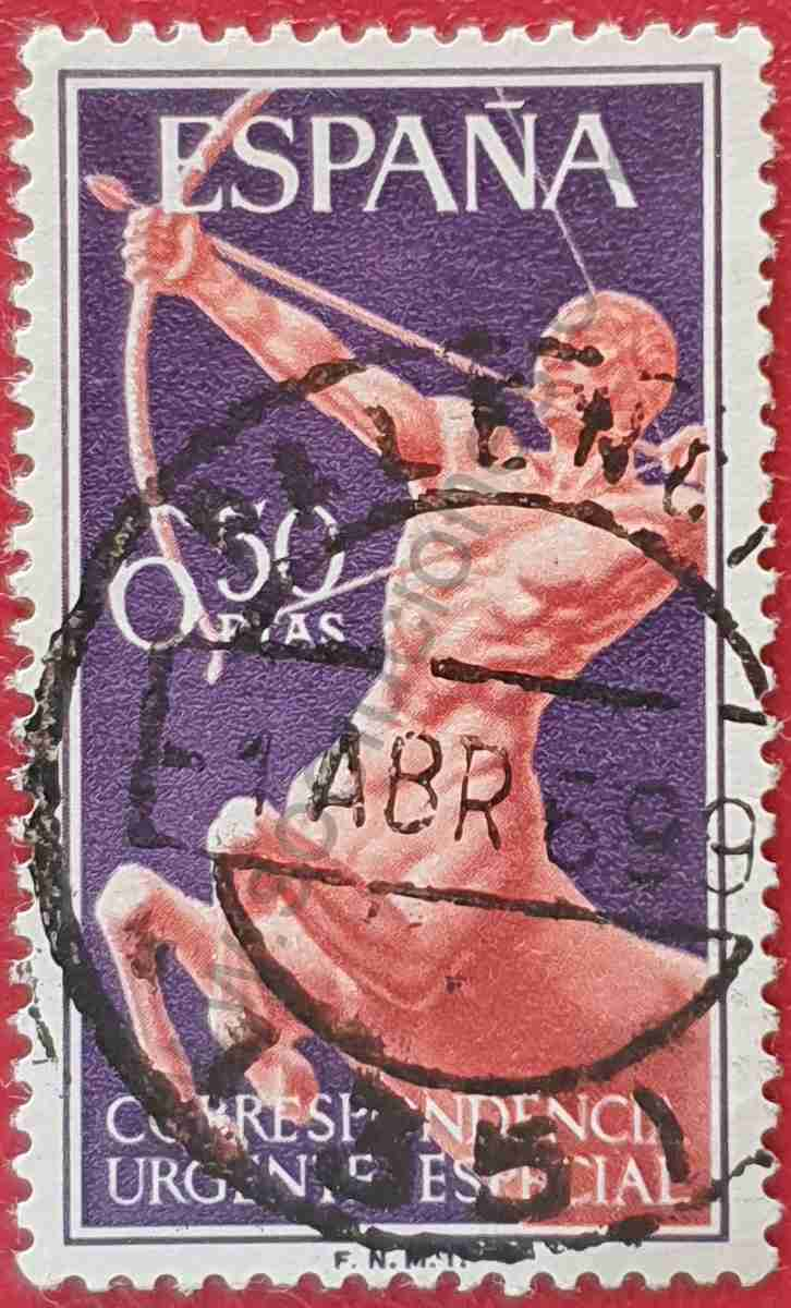 Sello Centauro año 1966 - España
