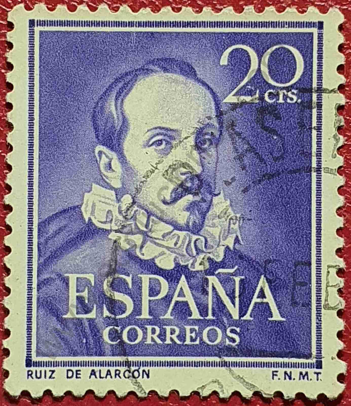 Sello Ruiz de Alarcón - España 1950