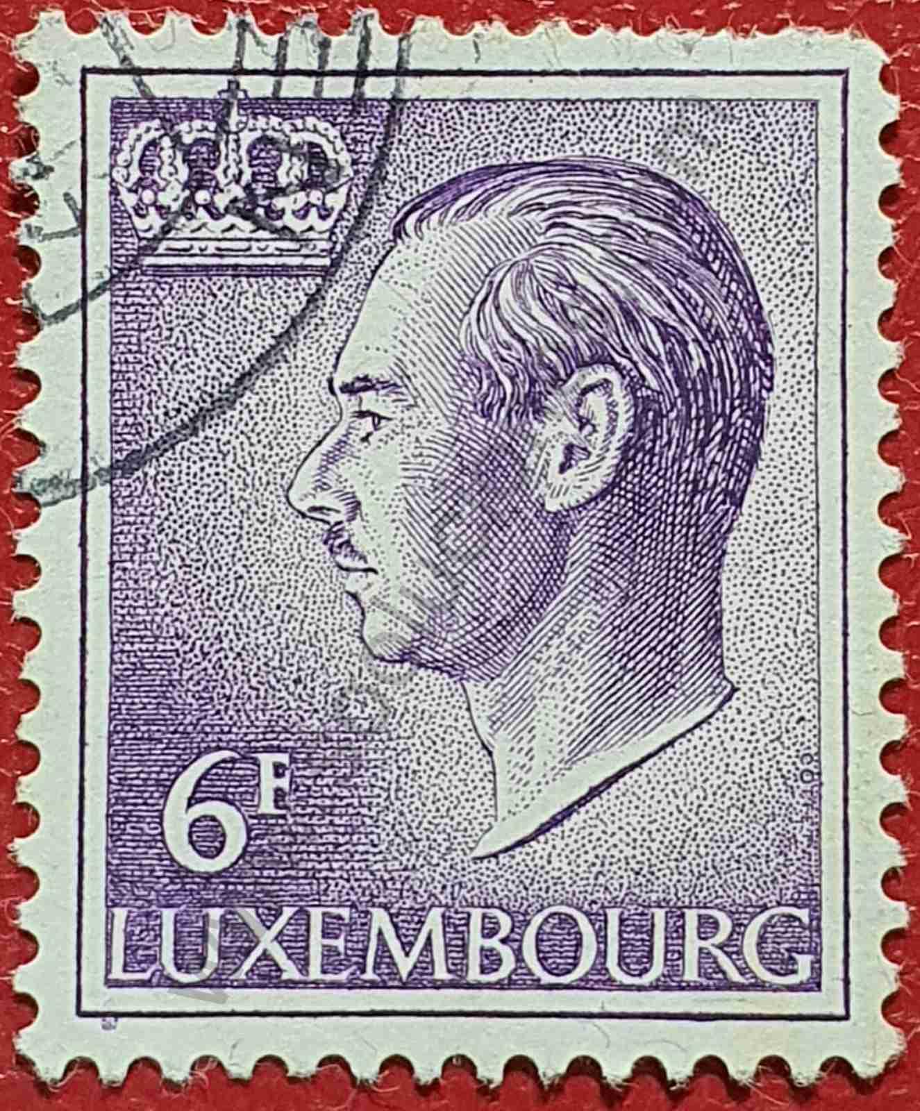 Sello Duque Jean 6fr - Luxemburgo 1987