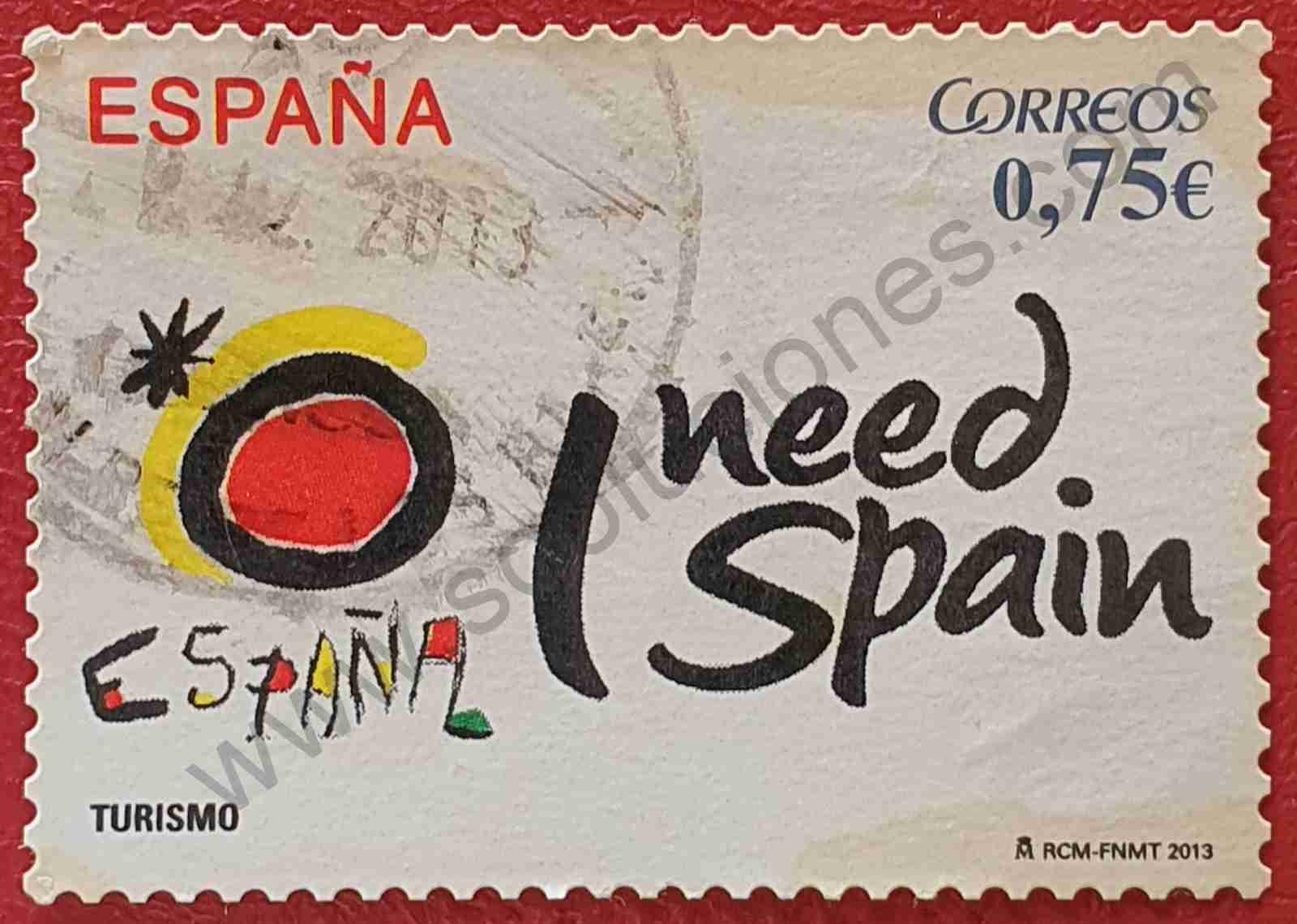 Sello 'I need Spain' - España 2013