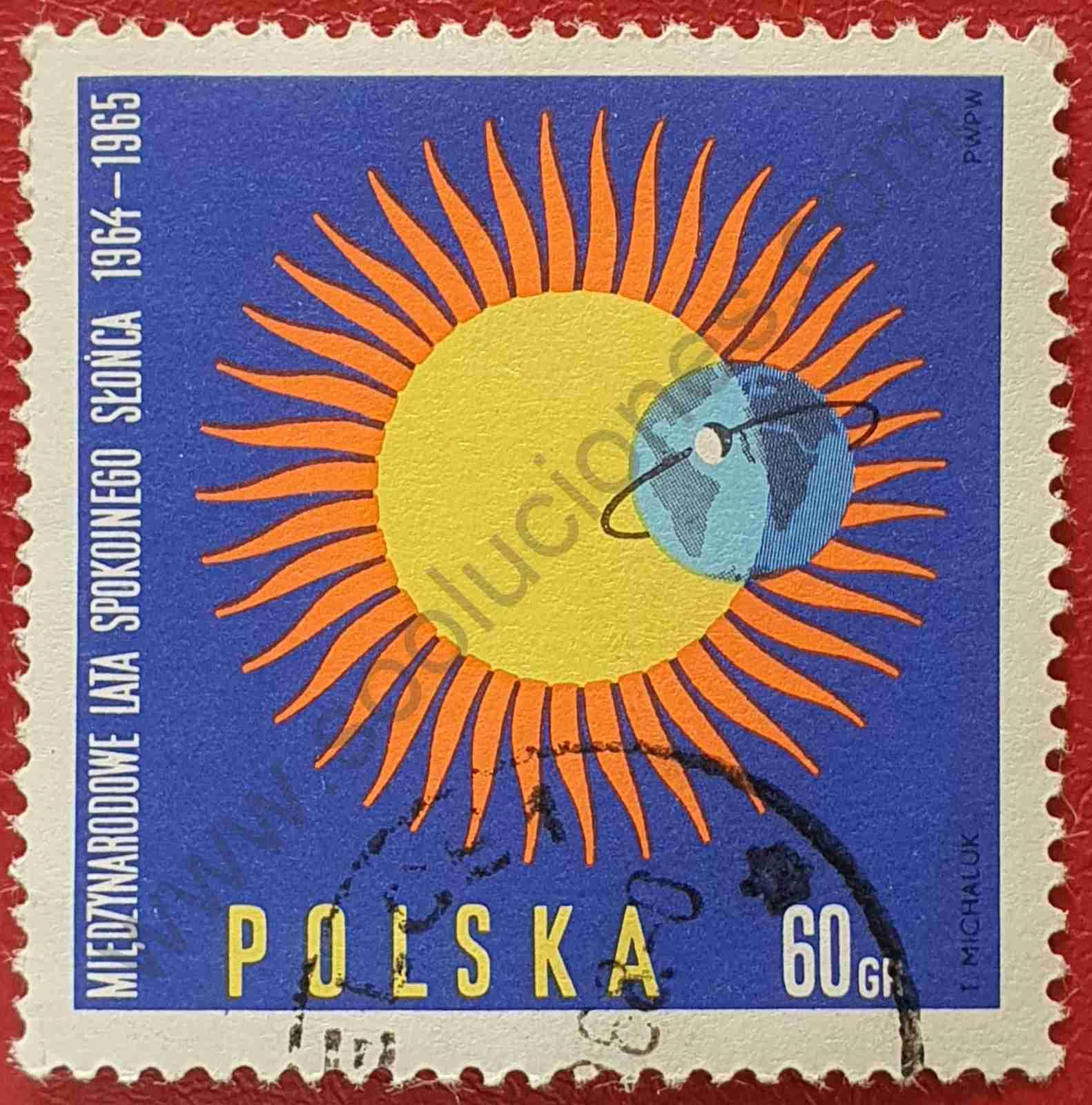 Sello Emblema IQSY - Polonia 1965