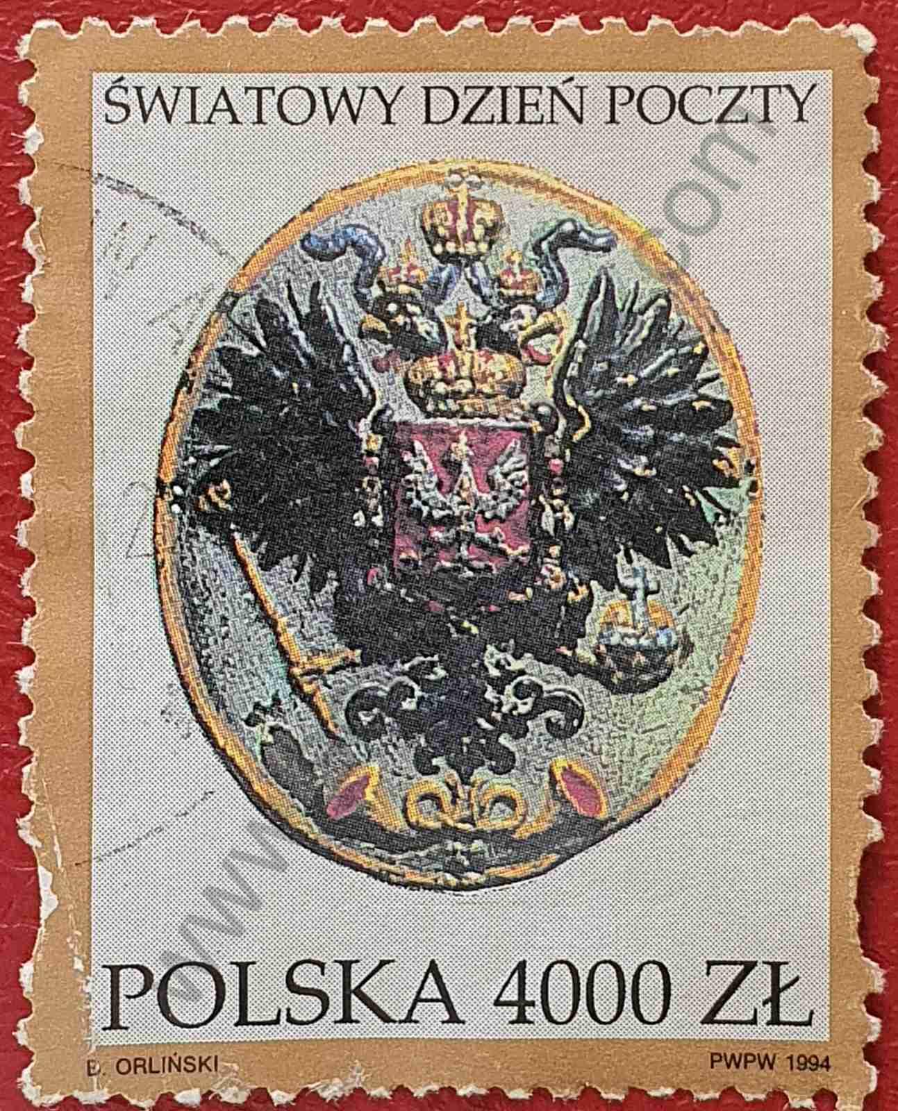 Sello Día mundial del correo - Polonia 1994