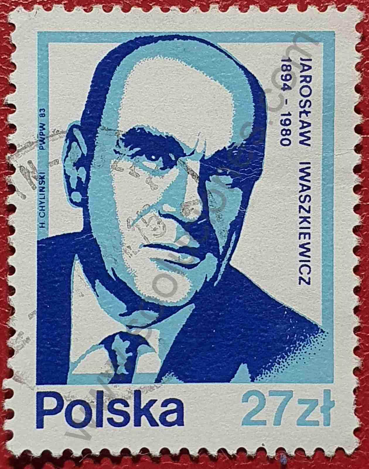 Sello Jaroslaw Iwaszkiewicz - Polonia 1983