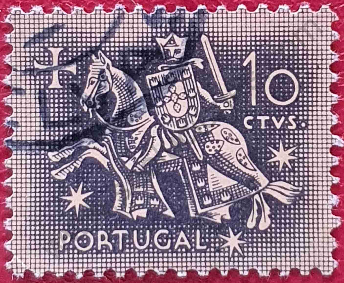 Sello Portugal 1953 - Rey Dionisio 10c