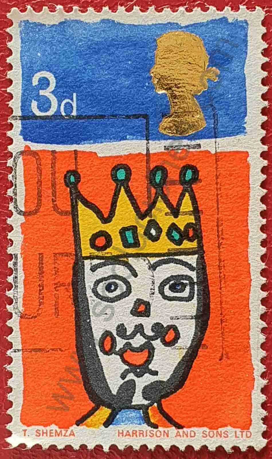 Sello Rey de oriente - Reino Unido 1966