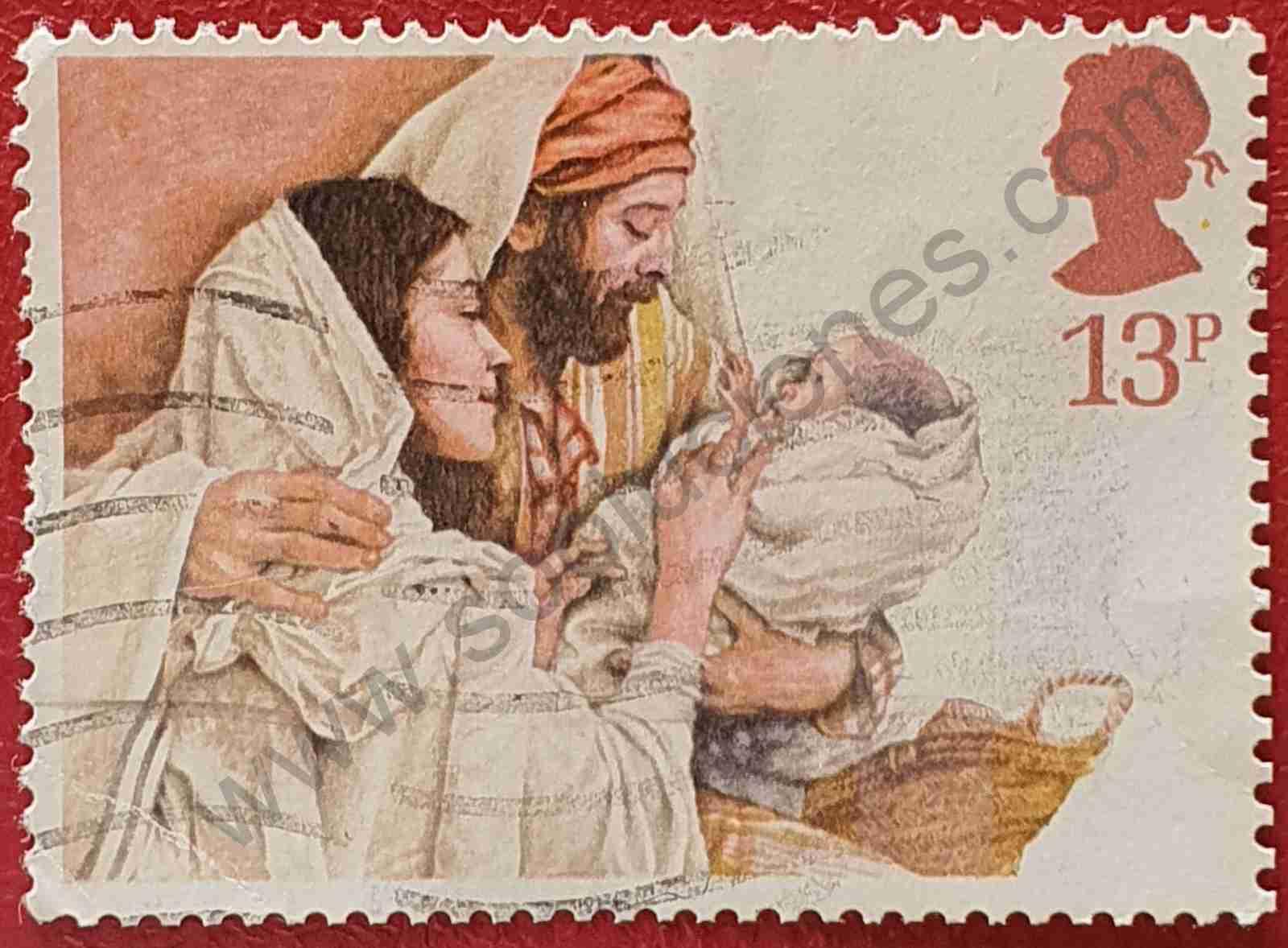 Sello Sagrada familia - Reino Unido 1984