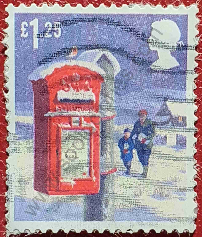 Sello Buzón correos con poste - Reino Unido 2018