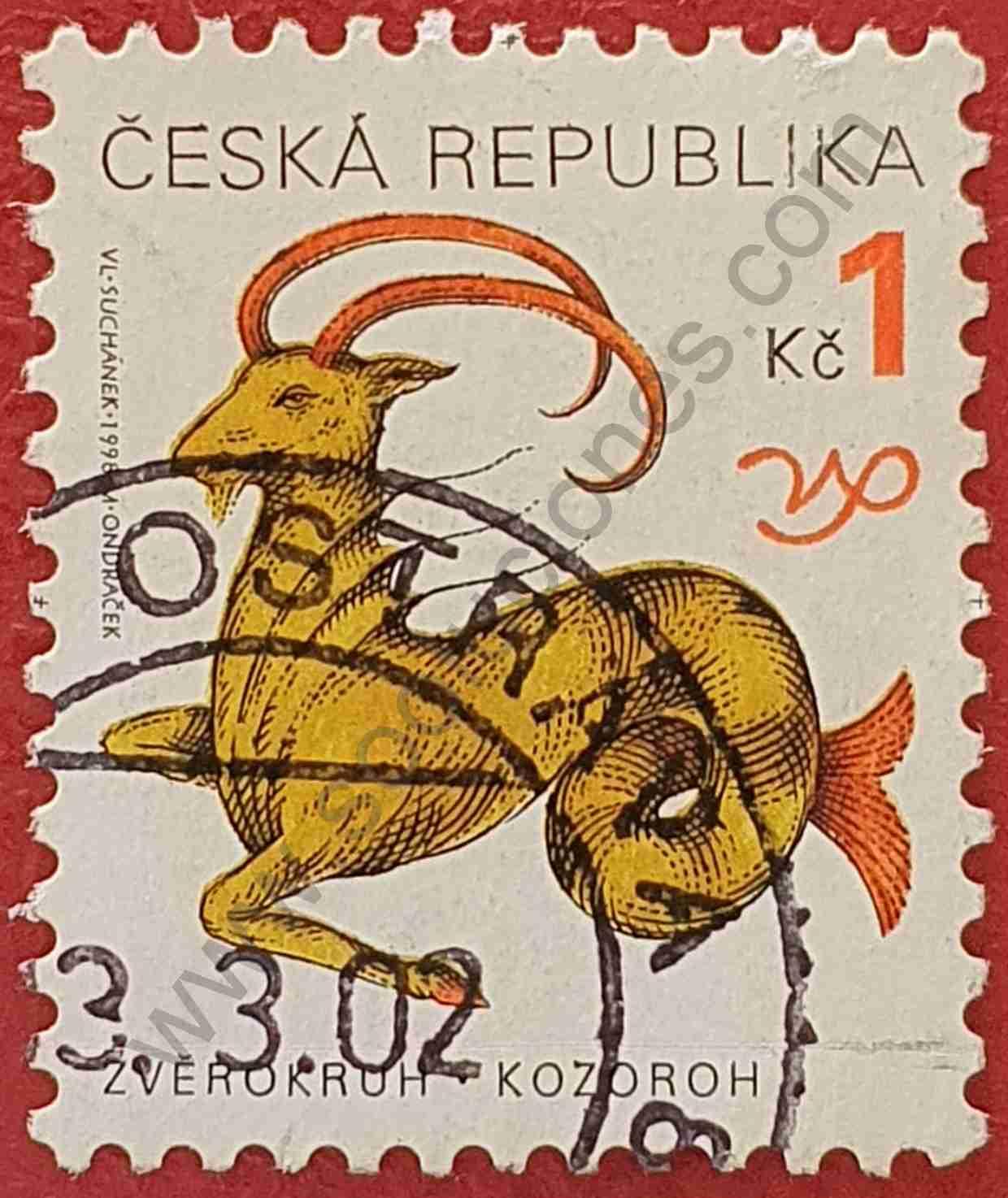 Capricornio - Sello de República Checa 1998
