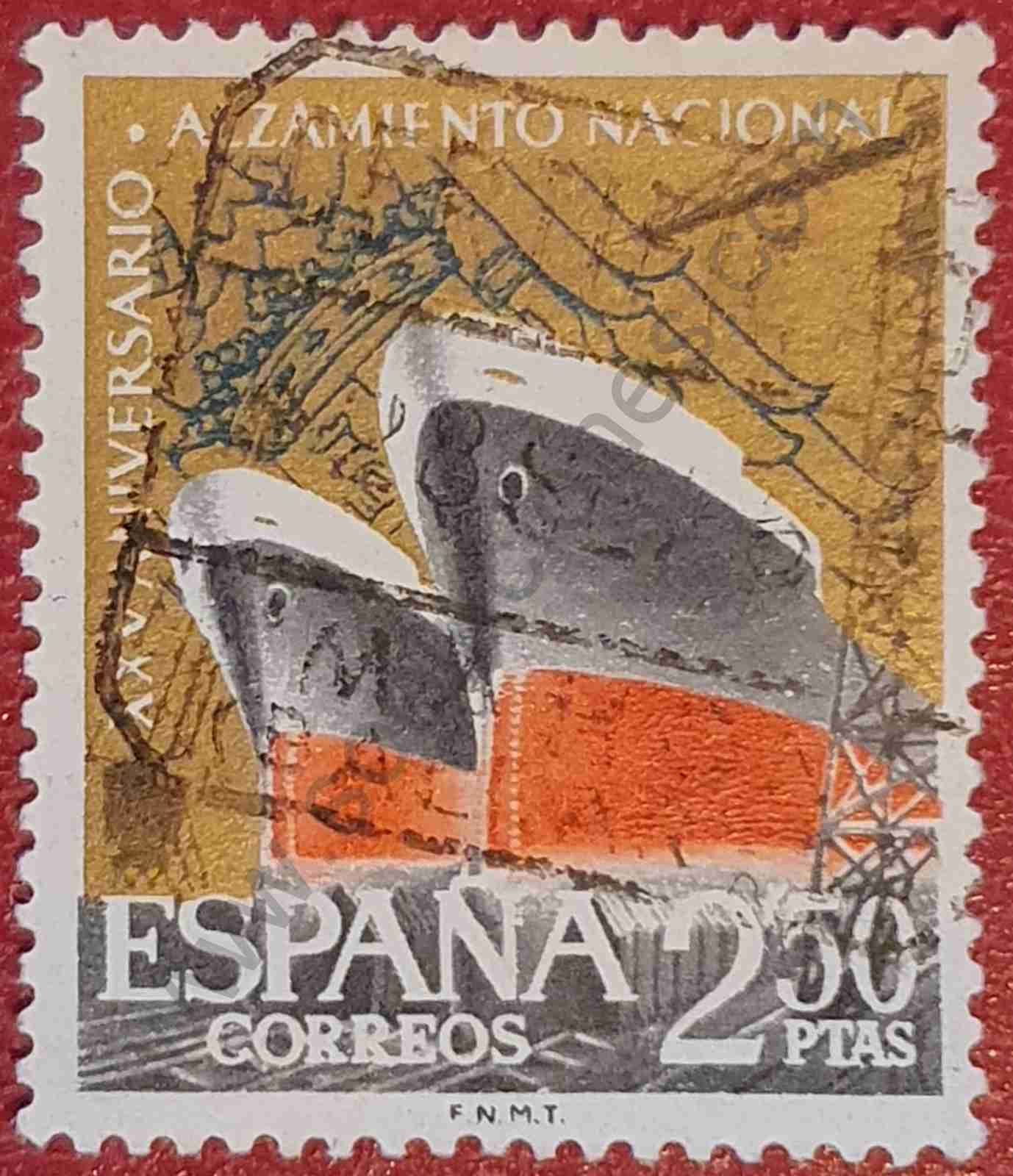 Sello Industria Naval 1961 - España