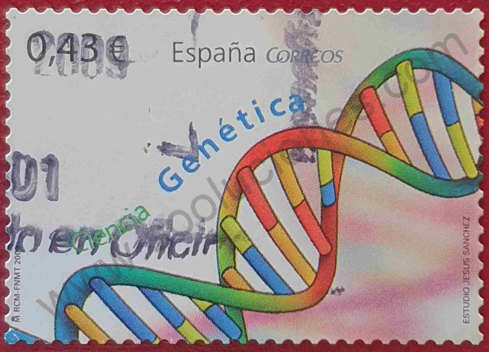 Sello ADN - Ciencia - España 2009