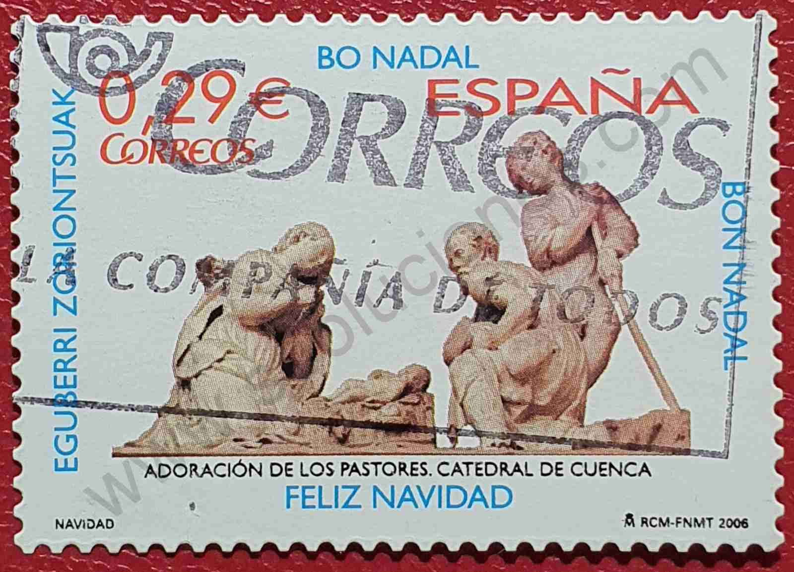 Sello Adoración pastores - España 2006