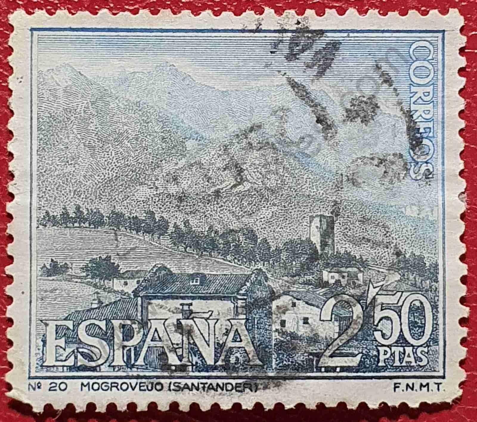 Sello Mogrovejo en Cantabria - España 1965