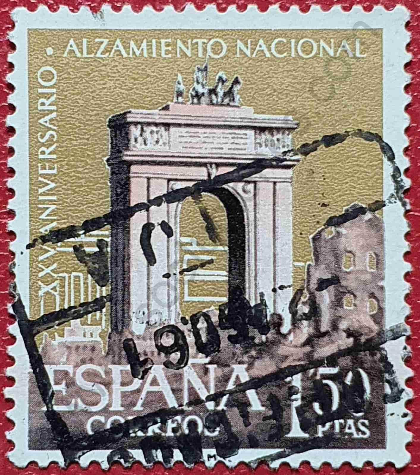 Sello Arco de triunfo Madrid - España 1961