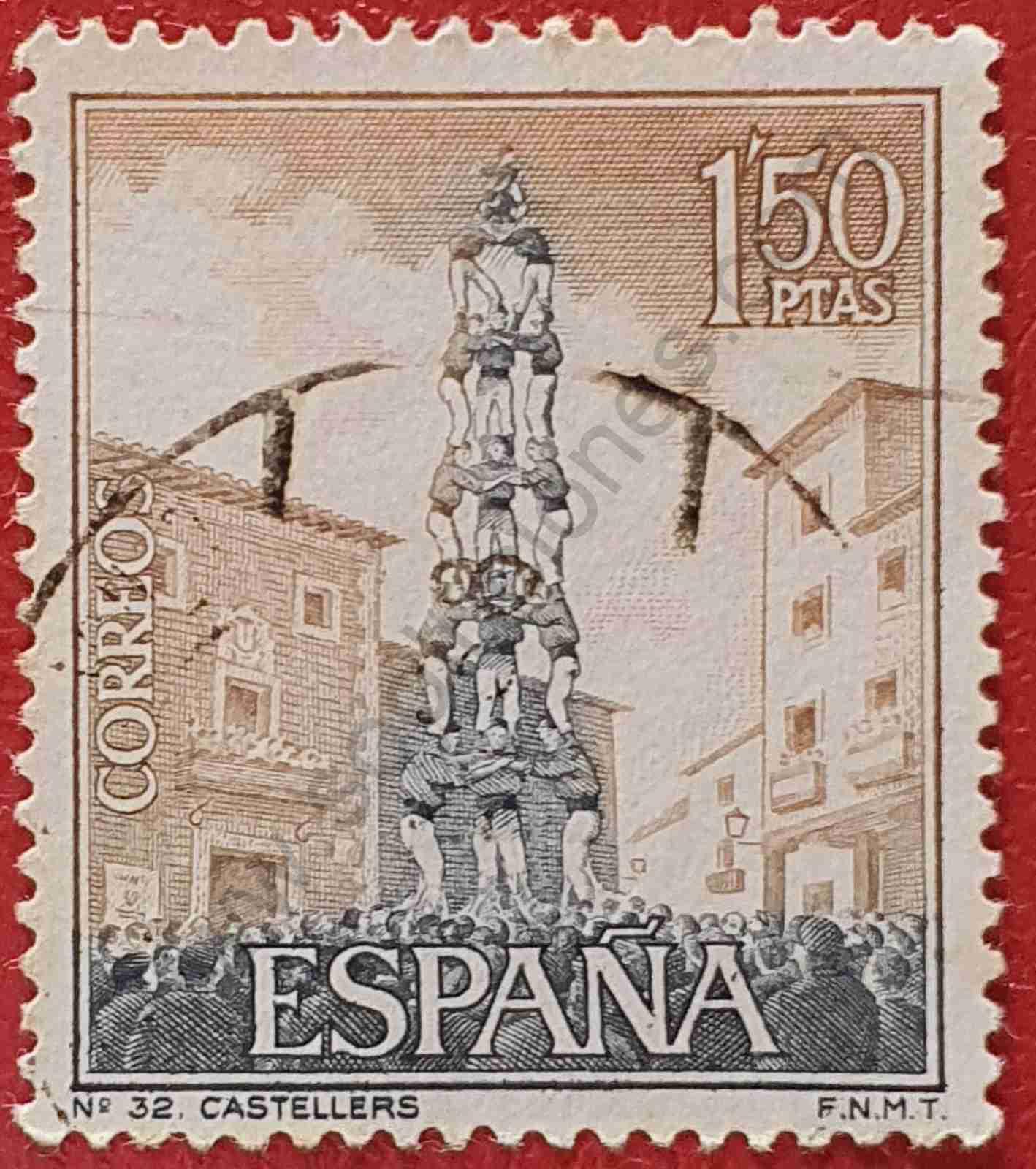 Sello Castellers - España 1967