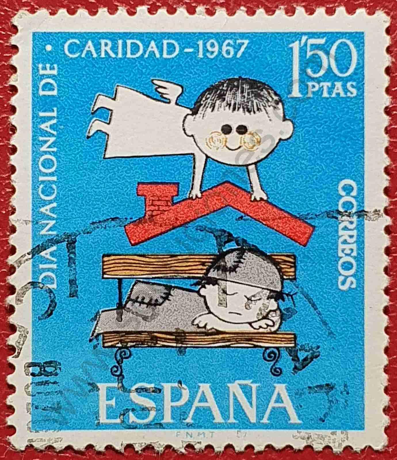 Sello Día nacional de la caridad - España 1967