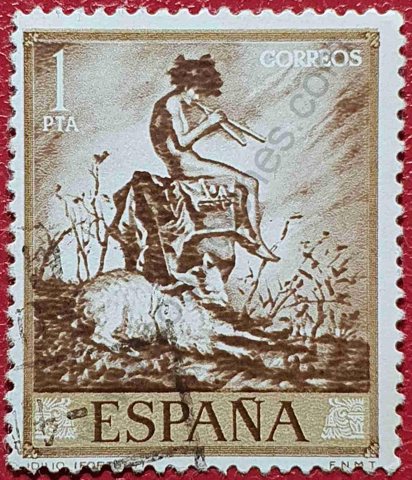 Idilio de Mariano Fortuny - Sello España 1968