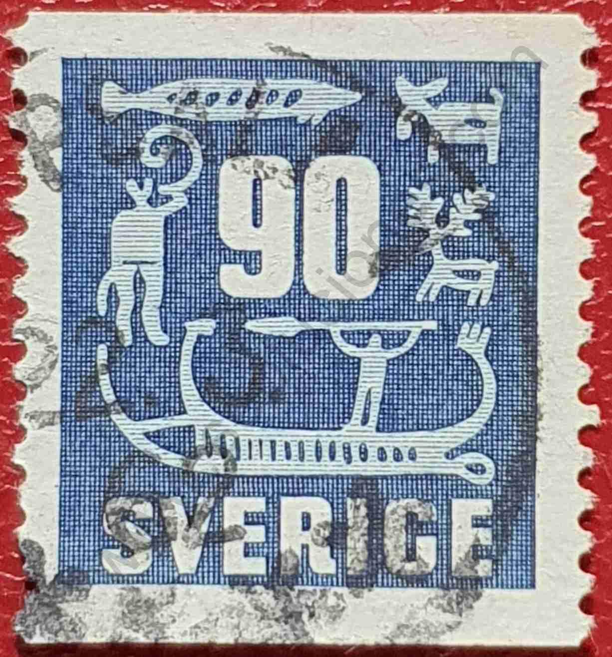 Sello Suecia 90 Ore 1954 - Tallas en roca