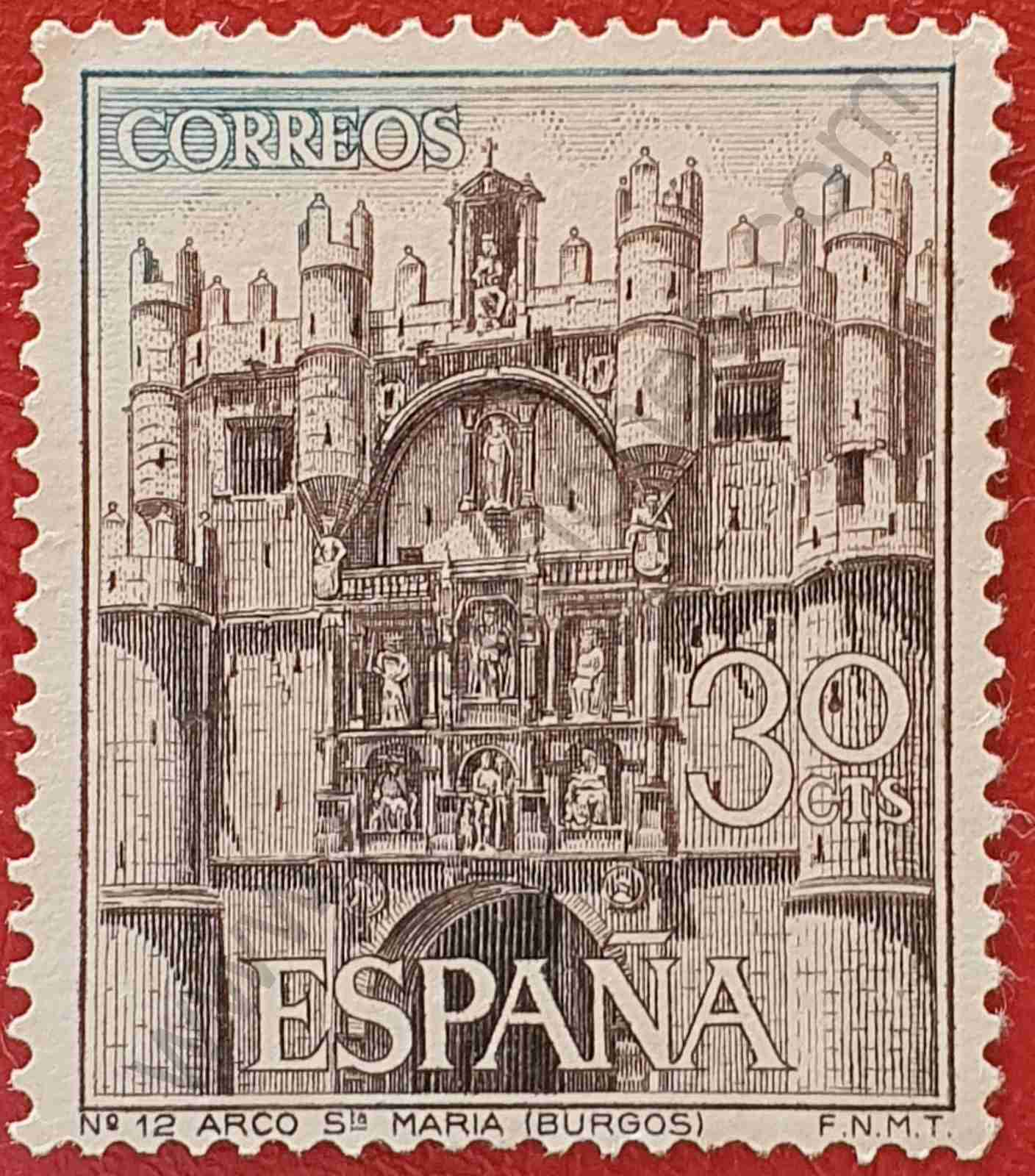 Arco de Santa María en Burgos - Sello España 1965