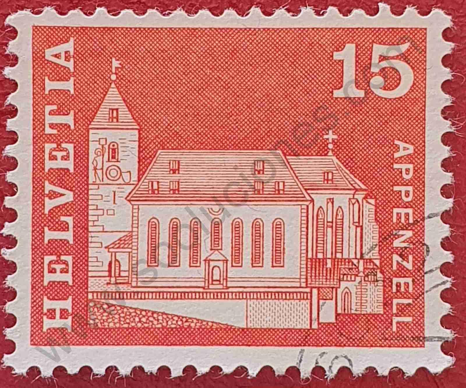 Sello Iglesia San Mauritius - Suiza 1968