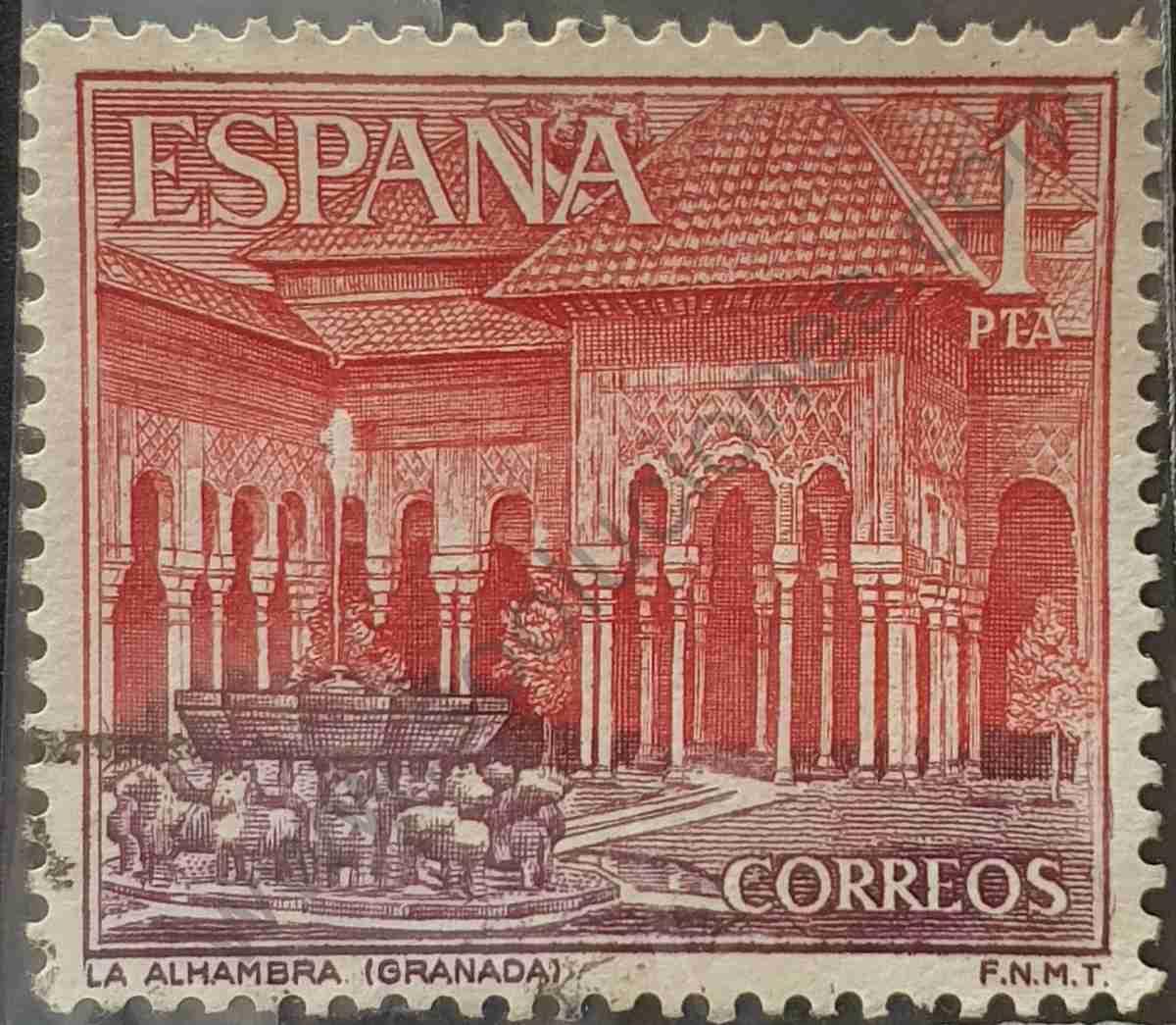 Sello La Alhambra - España 1964