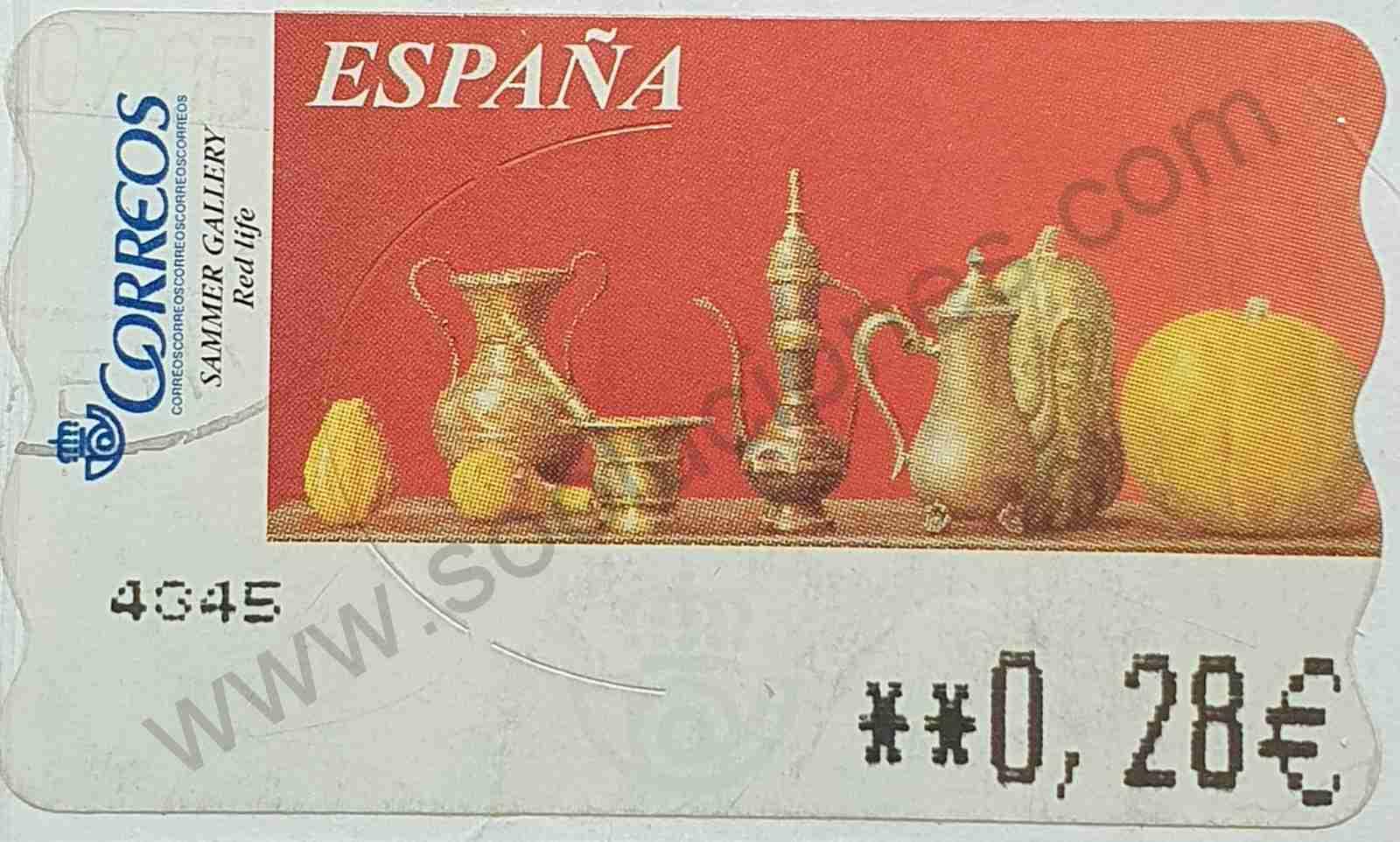 Pintura Red Life - Sello España 2004 - ATM