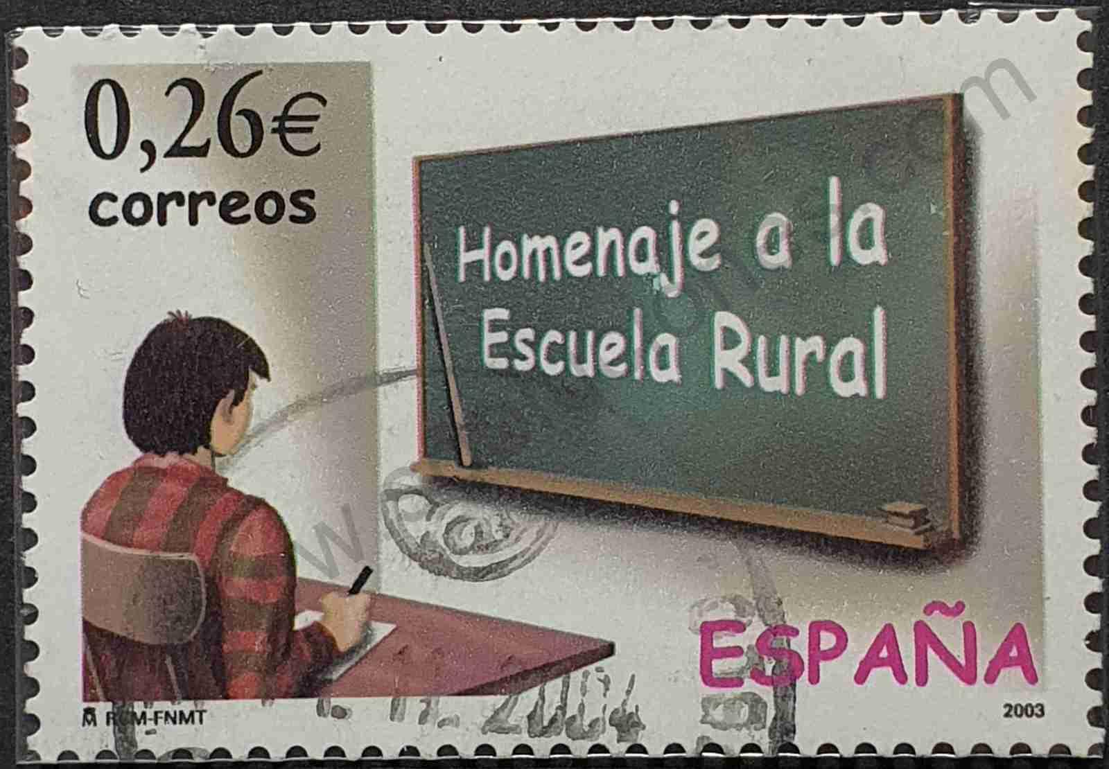 Sello Homenaje a la escuela rural - España 2003
