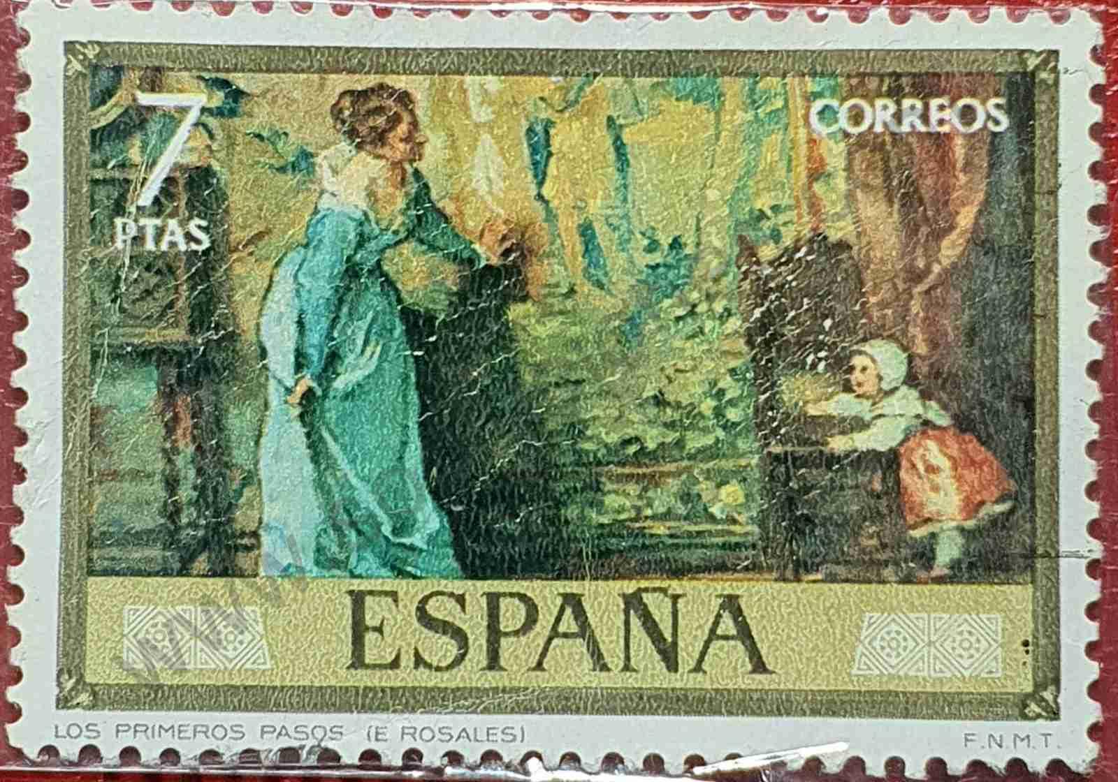 Pintura - Los primeros pasos - Sello España 1974