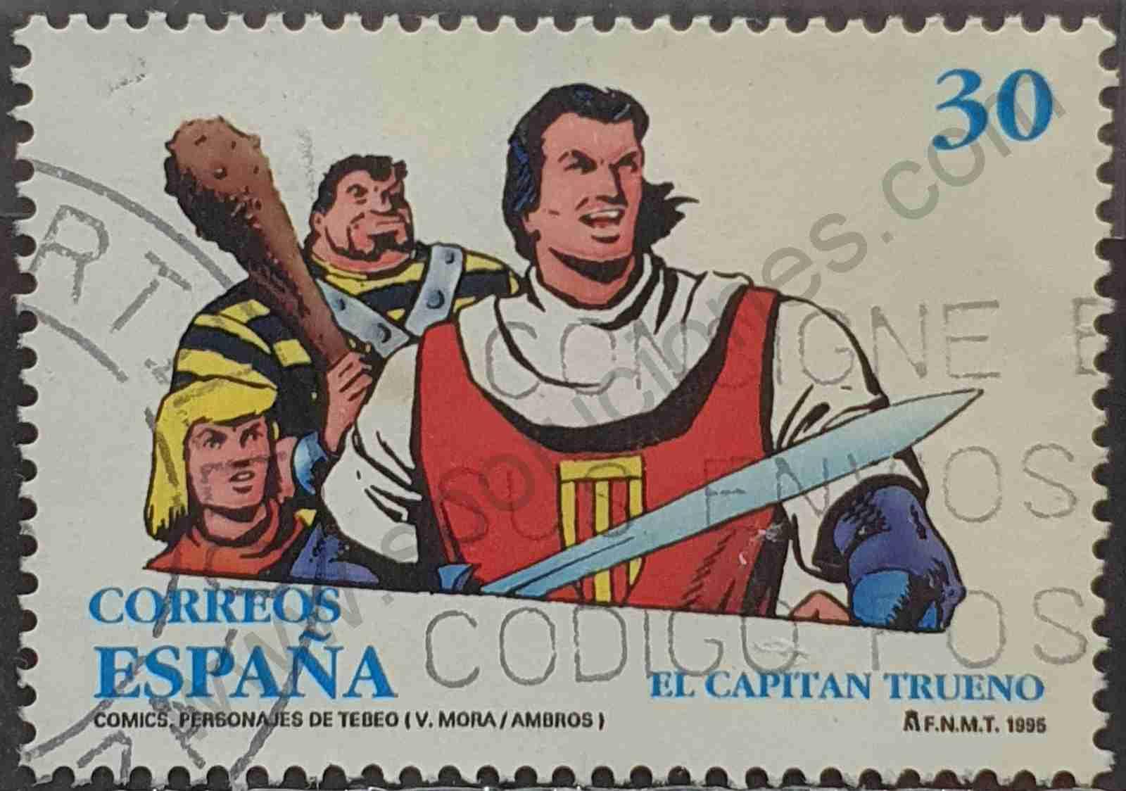 Capitán Trueno - Sello de España año 1995