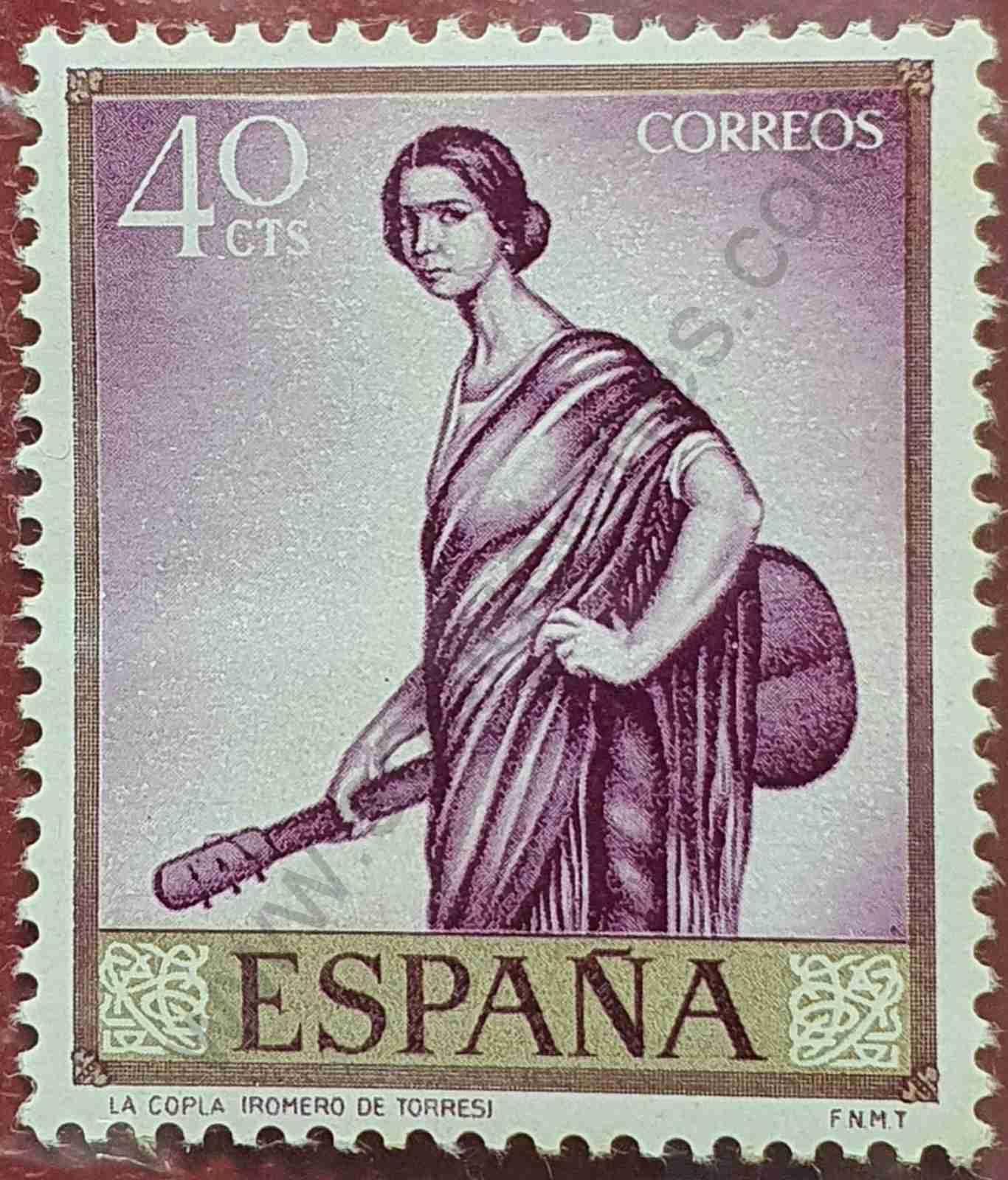 La copla - Sello España 1965