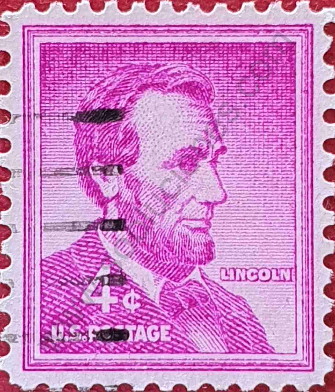 Sello Abraham Lincoln 4c - Estados Unidos 1954
