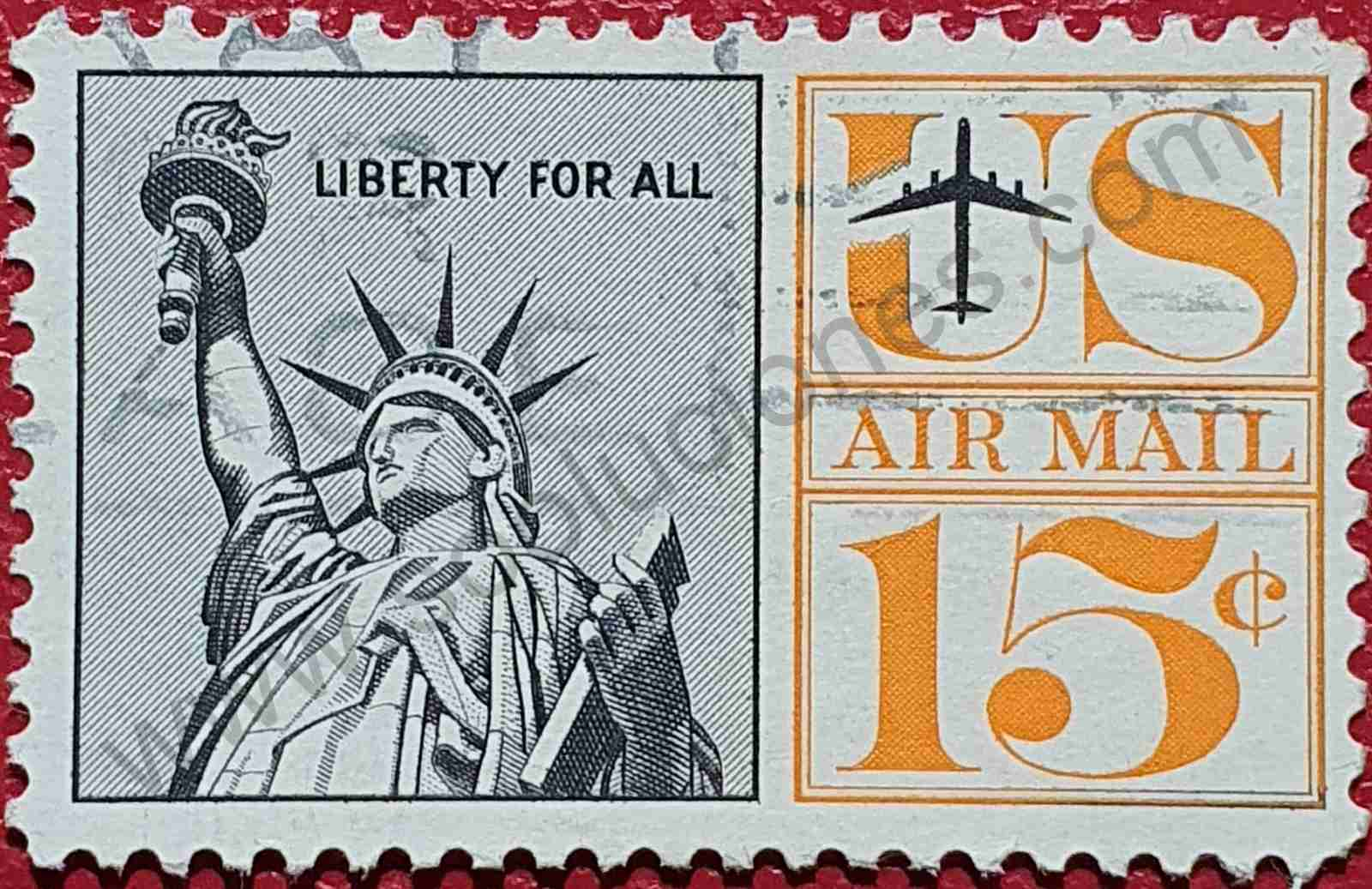 Sello Estatua de la Libertad - Estados Unidos 1961