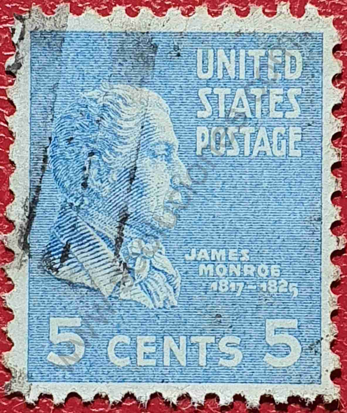 Sello James Monroe - Estados Unidos 1938