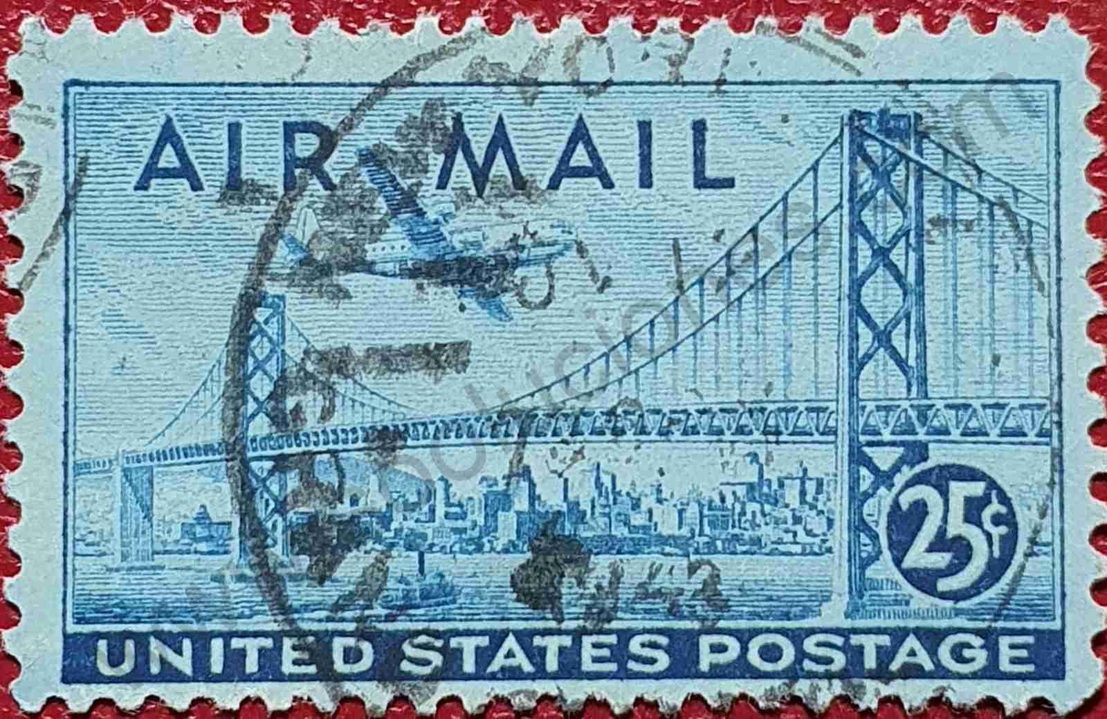 Puente Oakland - San Francisco - Sello Estados Unidos 1947
