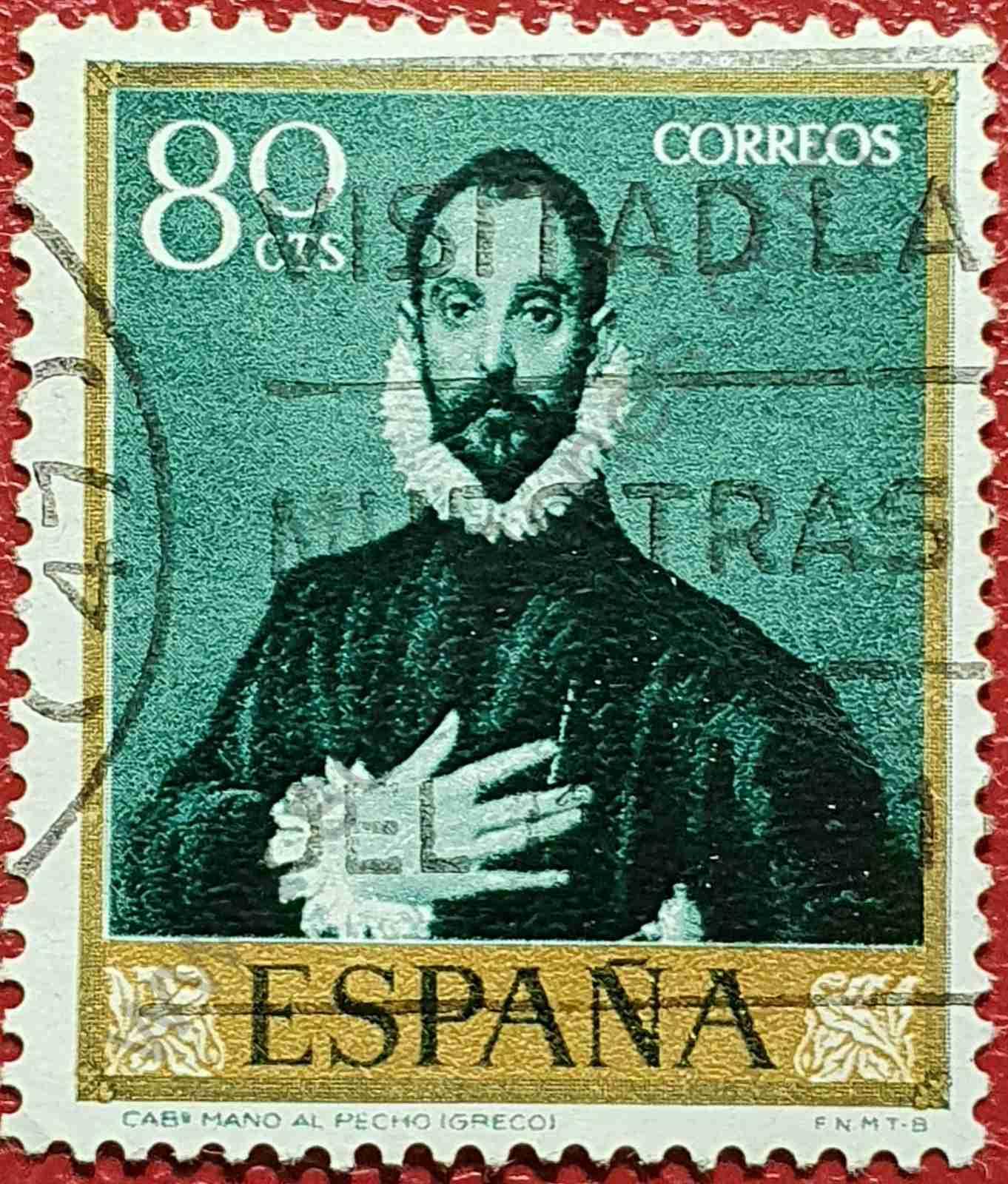 Pintura - El Caballero de la mano en el pecho - Sello España 1961