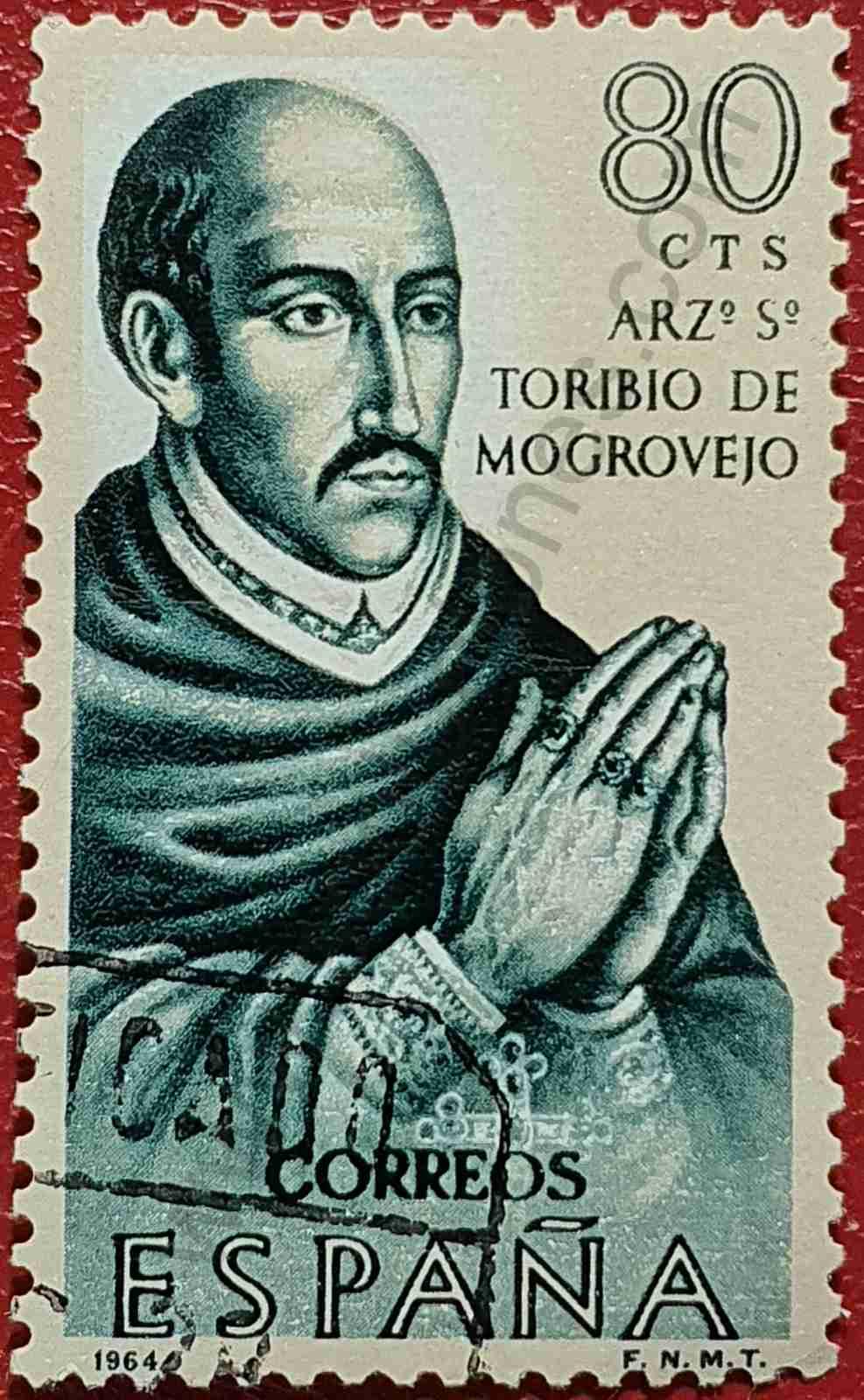 Sello - Toribio de Mogrovejo - España 1964