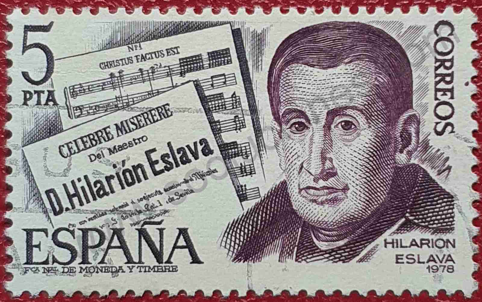 Sello Hilarión Eslava - España 1978