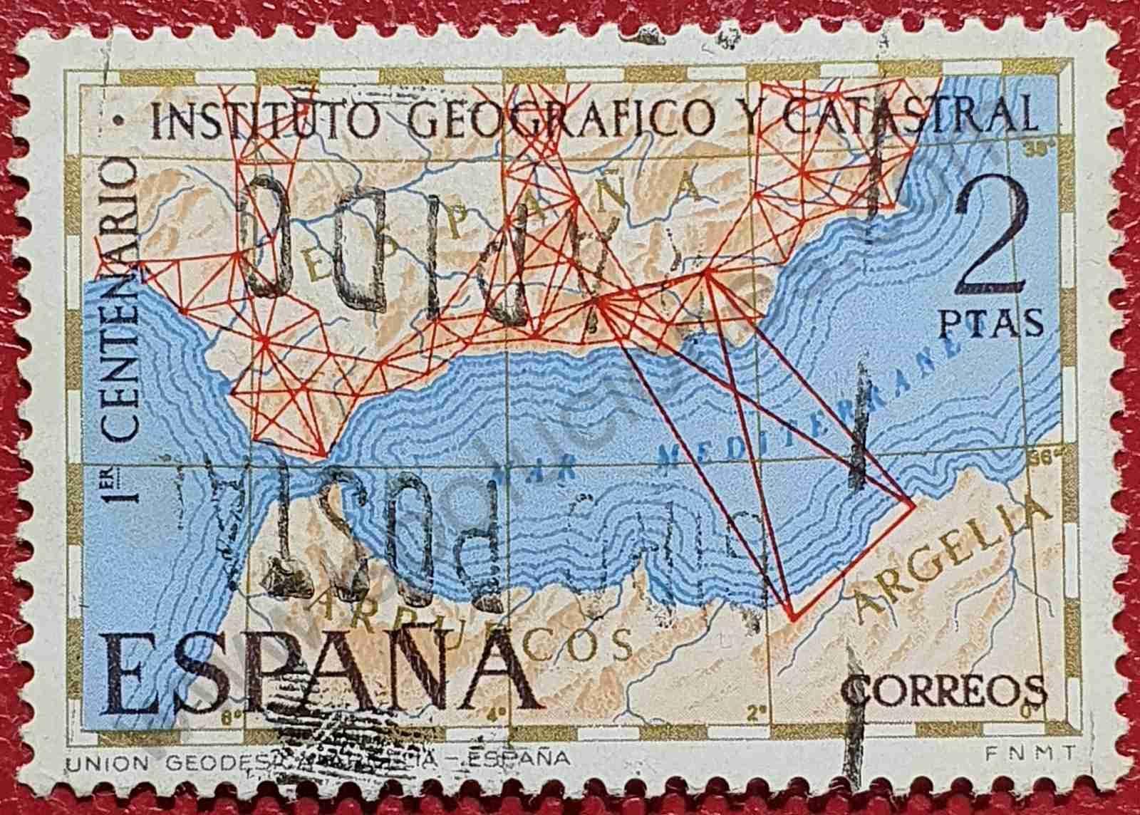 Centenario del Instituto Geográfico y Catastral - Sello España 1970