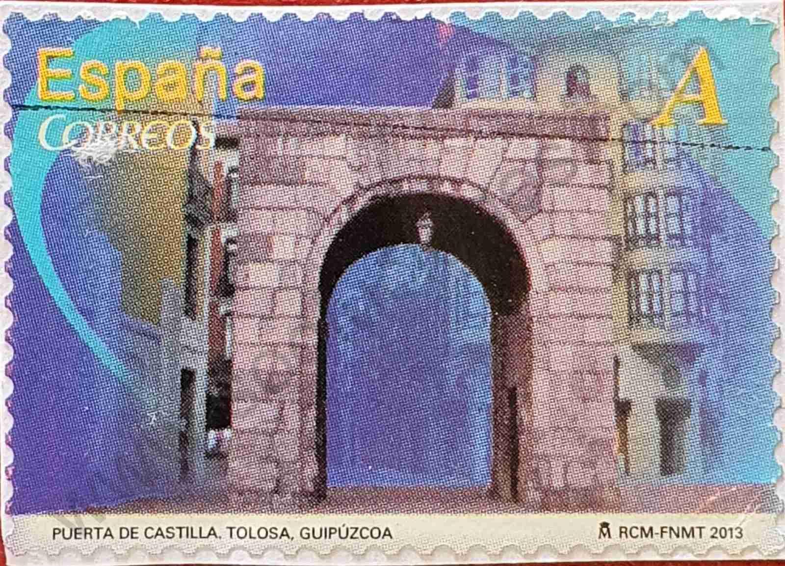 Sello Puerta de Castilla - España 2013
