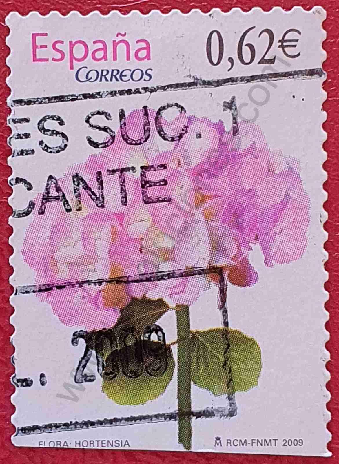 Sello - Hortensia - España 2009