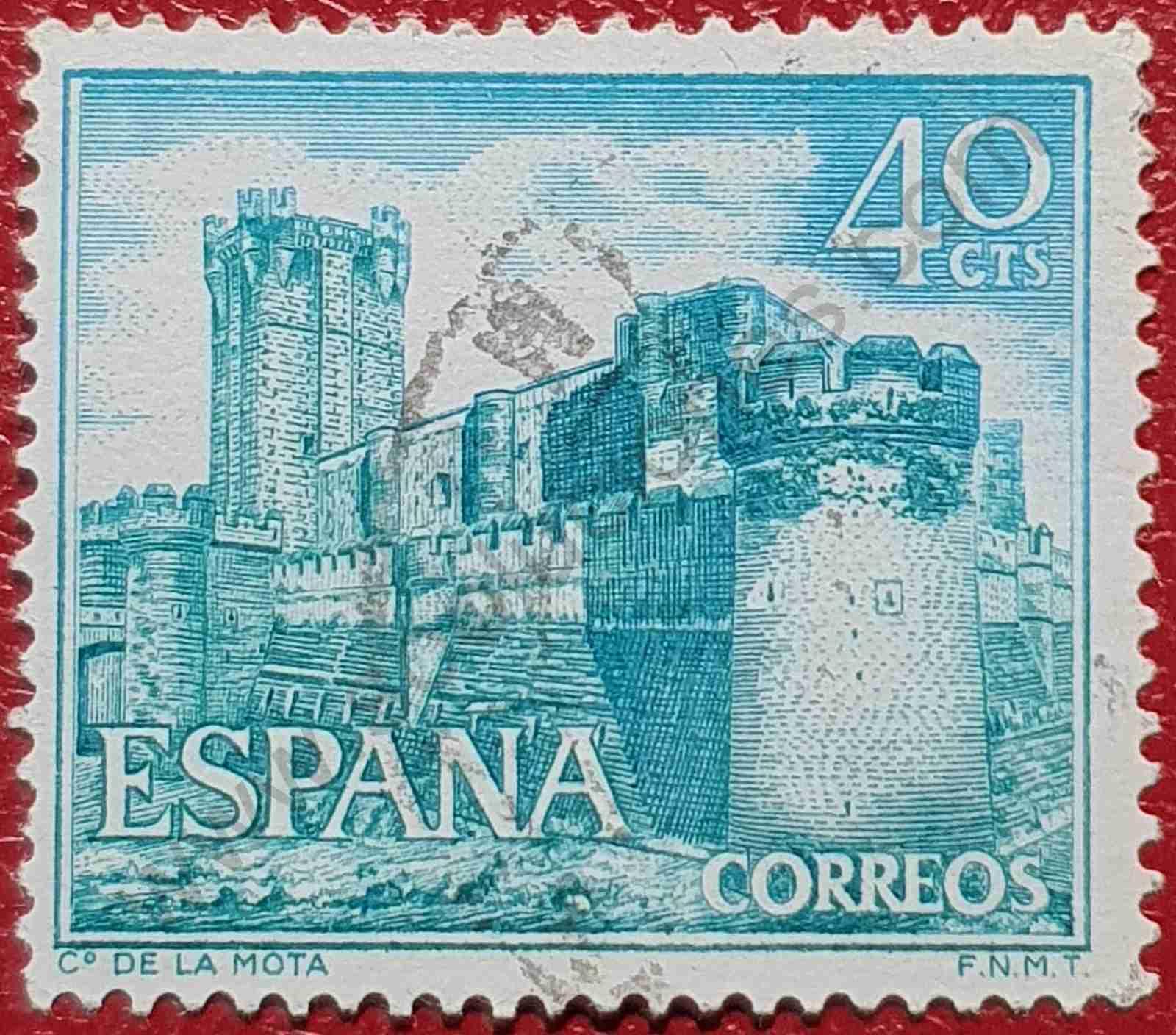 Sello Castillo La Mota - España 1966