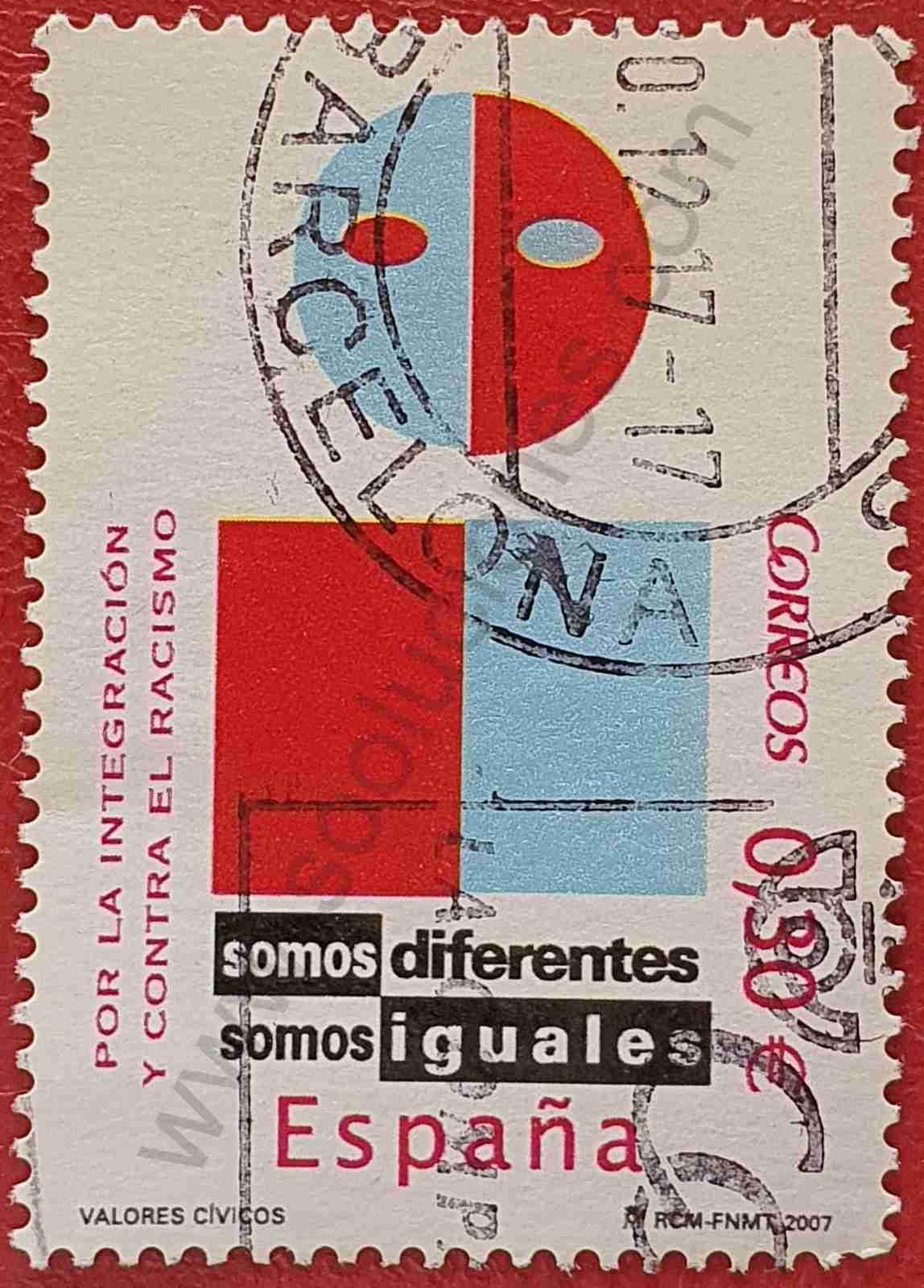 Sello Contra el racismo - España 2007