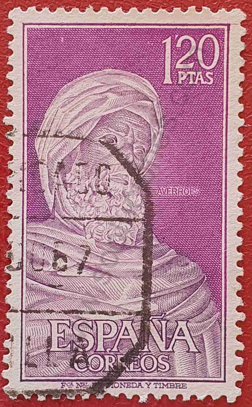 Ibn Rusd Averroes - Sello España 1967
